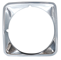 This chrome headlight bezel, driver's side fits 1969-1972 Chevrolet Pickup Truck