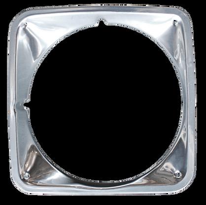 This chrome headlight bezel, driver's side fits 1969-1972 Chevrolet Pickup Truck