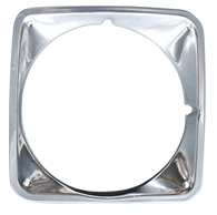This chrome headlight bezel, passenger's side fits 1969-1972 GMC Pickup Truck