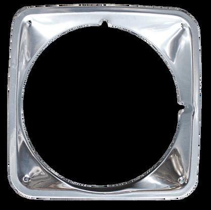 This chrome headlight bezel, passenger's side fits 1969-1972 GMC Pickup Truck