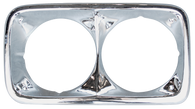 This chrome headlight bezel, driver's side fits 1969-1972 GMC Pickup Truck
