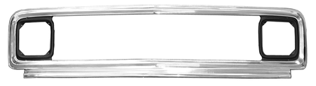 This aluminum outer grille frame fits 1971-1972 Chevrolet Pickup Truck