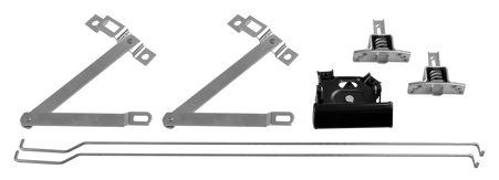 This 7 piece tailgate hardware kit includes an outer handle, a pair of actuating rods, a pair of tailgate hinges, and a set of tailgate latches. Fits 1967-72 Chevrolet and GMC pickup trucks.