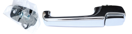 This outside door handle with hardware, driver's side fits 1967-1972 Chevrolet and GMC Pickup Trucks