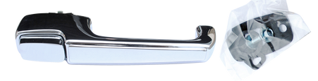 This outside door handle with hardware, passenger's side fits 1967-1972 Chevrolet and GMC Pickup Trucks