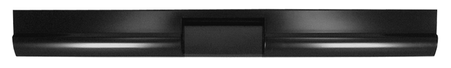 This fleetside roll pan with license cut out, without license lights, fits 1967-1972 Chevrolet and GMC Pickup Trucks