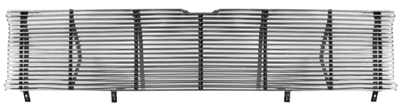 This chromed steel 4mm grille billet insert fits 1971-1972 Chevrolet Pickup Truck (will fit 1969-1970 grille outer frame)