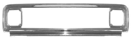 This chromed steel grille outer frame fits 1971-1972 Chevrolet Pickup Truck