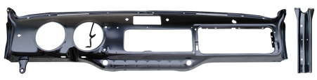 This full steel dash panel fits 1947-1954 Chevrolet and GMC Pickup Trucks