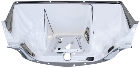 This chrome hood latch panel fits 1947-1953 Chevrolet Pickup Trucks