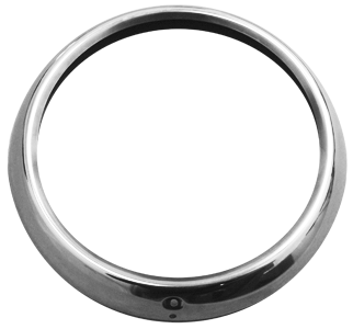 This 1st Series stainless head light bezel set with fasteners fits 1947-1955 Chevrolet Pickup Trucks