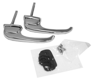 These chrome exterior door handles fit 1947-1951 Chevrolet and GMC Pickup Trucks