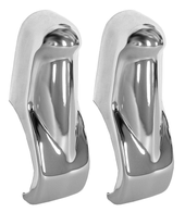These 2nd Series front chrome bumper guards fit 1955-1959 Chevrolet and GMC Pickup Trucks