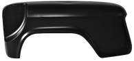 This rear bedside long bed stepside fender with spare tire cut out fits 1955-1966 2nd Series Chevrolet and GMC Pickup Trucks
