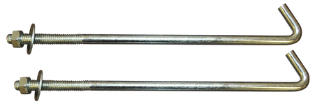 These battery hold-down J-bolts fit the 1955-1966 Chevrolet and GMC trucks.