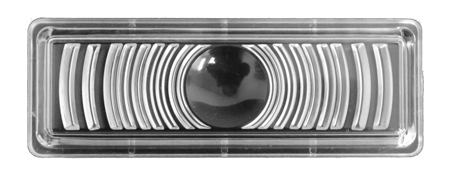 This clear park lamp lens fits 1947-1953 Chevrolet Pickup Trucks