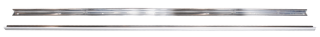 This polished stainless steel angle cover without holes (use 2 per truck), short bed stepside fits 1947-1987 Chevrolet and GMC Pickup Trucks (actual product not shown)