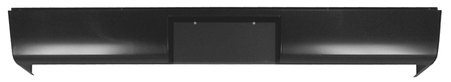 This roll pan with license plate cut out, without lights fits 1947-1953 Chevrolet and GMC Pickup Trucks