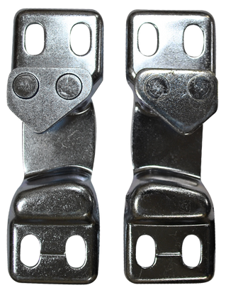 These door striker plates (Set of 2) fit 1947-1963 Chevrolet and GMC Pickup Trucks