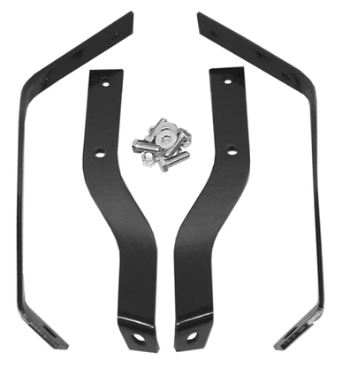 These 2nd Series rear Stepside bumper brackets fit 1955-1959 Chevrolet and GMC Pickup Trucks