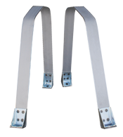 This 2nd series gas tank strap set fits 1955-1959 Chevrolet and GMC Pickup Trucks