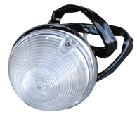 This 2nd Series Chevy park light assembly with clear lens fits 1955-1957 Chevrolet and GMC Pickup Trucks