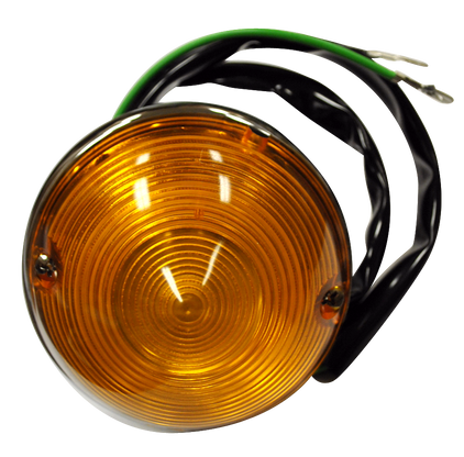 This 2nd Series Chevy park light assembly with amber lens fits 1955-1957 Chevrolet and GMC Pickup Trucks