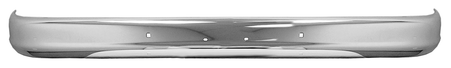 This front chrome bumper fits 1960-1962 Chevrolet and GMC Pickup Trucks