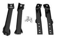 This stepside rear bumper bracket kit fits 1963-1966 Chevrolet and GMC Pickup Trucks.
