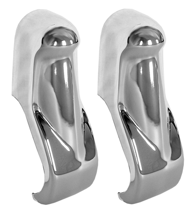 These chrome front bumper guards, sold in pairs only fits 1960-1962 Chevrolet and GMC Pickup Trucks