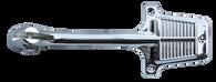 This chrome interior mirror bracket fits 1960-1971 Chevrolet and GMC Pickup Trucks