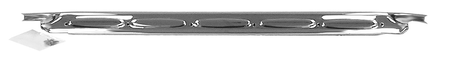 This stainless door scuff plate, chrome shown fits 1960-1966 Chevrolet and GMC Pickup Trucks