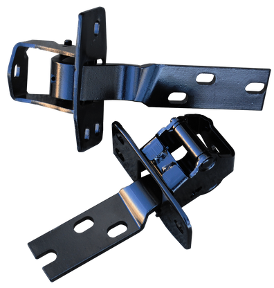 This passenger's side door hinge set fits 1947-1955 Chevrolet and GMC Pickup Trucks. This part number includes one upper and one lower for the passenger's side door