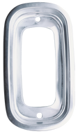 This aluminum tail light bezel fits 1960-1966 Chevrolet and GMC Pickup Trucks