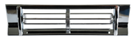 This chrome A/C center dash vent fits 1967-1972 Chevrolet and GMC Pickup Truck, 1969-1972 Chevrolet Blazer and Suburban, and 1969-1972 GMC Jimmy