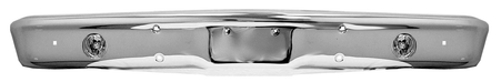 This Chrome front bumper with fog light holes fits 1967-1970 Chevrolet and GMC Pickup Trucks