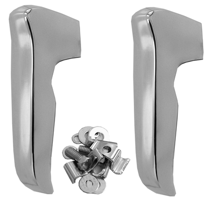 This pair chrome bumper guards with mounting bolts fits 1967-1970 Chevrolet and GMC pickup trucks