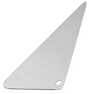This clear vent window glass, passenger's side fits 1968-1972 Chevrolet and GMC Pickup Trucks