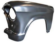 This front fender, passenger's side fits 1957 Chevrolet pickup truck