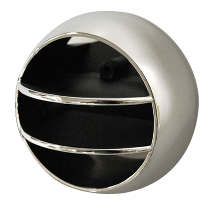 This chrome and black side air vent ball fits 1968-1977 Chevrolet and GMC Pickup Trucks, Suburbans, Blazers, and Jimmy's