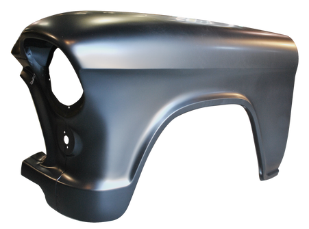 This 2nd Series front fender, driver's side fits 1955-1956 Chevrolet pickup truck