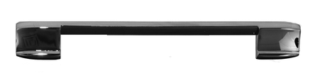 This upper center tailgate molding, with barrel nut, flat fits 1967-1972 Chevrolet and GMC Pickup Trucks