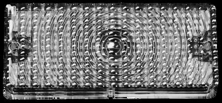 This clear parking lamp lens, passenger's side fits 1969-1970 Chevrolet Pickup Trucks