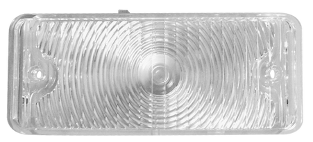 This passenger's side, clear park light lens fits 1967-1968 Chevrolet and GMC Pickup Trucks