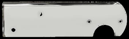 This passenger's side, chrome stepside tail light bracket fits 1967-1976 Chevrolet and GMC Pickup Trucks