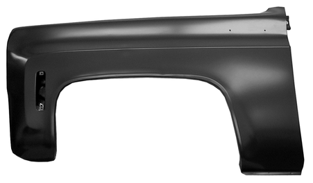 Front drivers side fender fits 1973-80 Chevrolet and GMC pickup trucks, 1973-80 Chevrolet Blazers and GMC Jimmy's
