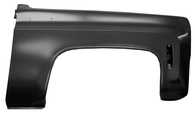 Front passengers side fender fits 1973-80 Chevrolet and GMC pickup trucks, 1973-80 Chevrolet Blazers and GMC Jimmy's