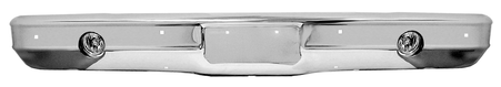 This front chrome bumper with fog light holes fits 1973-1980 Chevrolet and GMC Pickup Trucks, 1973-1980 Chevrolet Blazer, 1973-1980 Chevrolet and GMC Suburban, 1973-1980 GMC Jimmy
