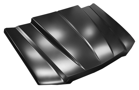 This cowl induction style hood fits 2003-2005 Chevy Silverado (except 2005 HD), and 2002-2006 Chevy Avalanche (without body side cladding)