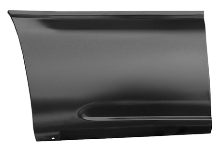 This front lower bed section (6' bed) passenger's side fits:  1999-2006 Chevrolet Silverado and GMC Sierra Standard Cab Pickups,  1999-2006 Chevrolet Silverado and GMC Sierra Extended 3/4 door Cab Pickup, and  1999-2006 Chevrolet Silverado and GMC Sierra Crew Cab Pickups
